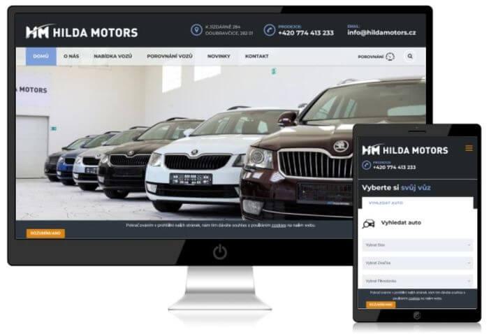 web stránky prodej aut