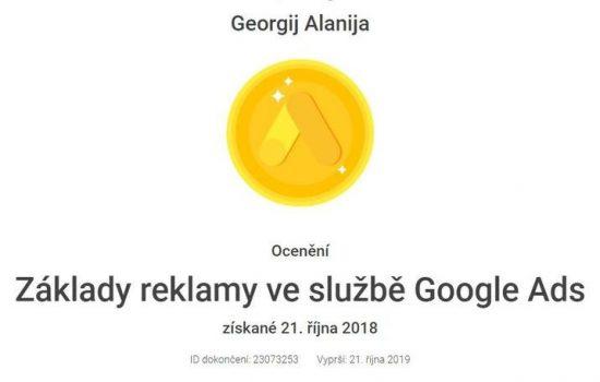 Žáklady reklamy ve službě Google Ads